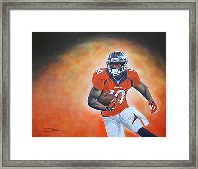 Emmanuel Sanders Framed Print by Don Medina