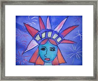 Emma's Lady Liberty Framed Print by Alice Gipson