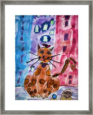 Emma's Spotted Kitty Framed Print