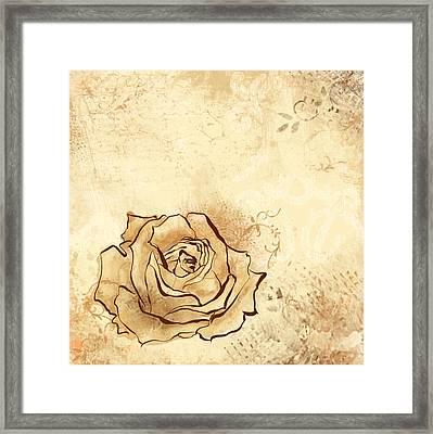 Emmerson's Rose Framed Print by Alison Schmidt Carson