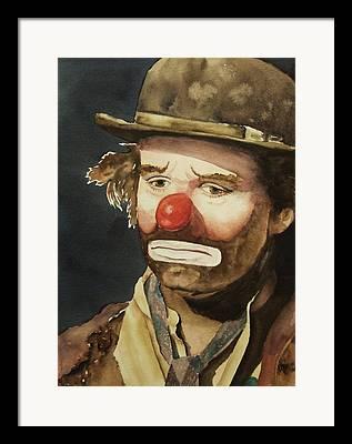 Clown Paintings Framed Prints