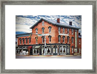 Emmitt House Corner Framed Print by Jaki Miller