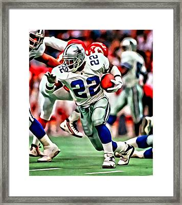 Emmitt Smith Framed Print