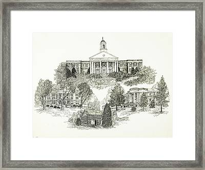 Emory And Henry College Framed Print by Jessica Bryant