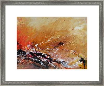 Framed Print featuring the painting Emotion  by Ismeta Gruenwald