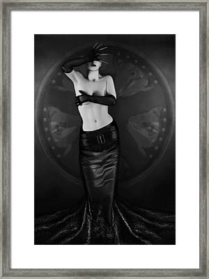 Emotional Blindness - Self Portrait Framed Print by Jaeda DeWalt