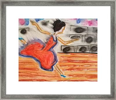 Emotional Dance Framed Print