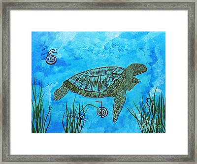 Emotional Healing With The Sea Turtle Framed Print