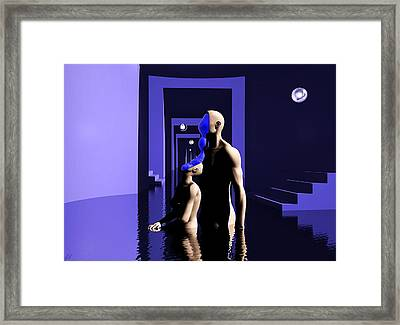 Framed Print featuring the digital art Emotional Symbiosis by John Alexander