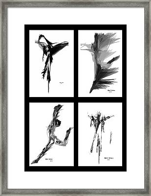 Emotions In Black - Abstract Quad Framed Print