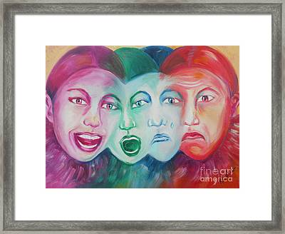 Emotions Framed Print by Melanie Alcantara Correia