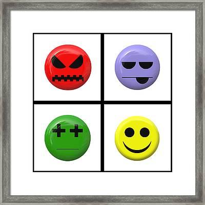 Emoto Panel Framed Print