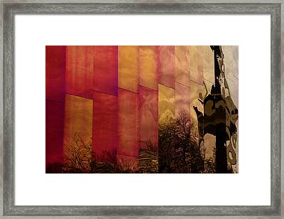 Emp Seattle Reflections  Framed Print by Joanna Madloch