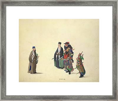 Emperor Chien Wen Framed Print by British Library