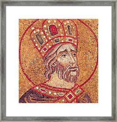 Emperor Constantine I Framed Print by Byzantine School
