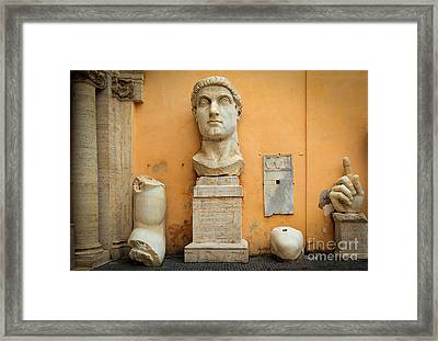 Emperor Constantine Framed Print by Inge Johnsson