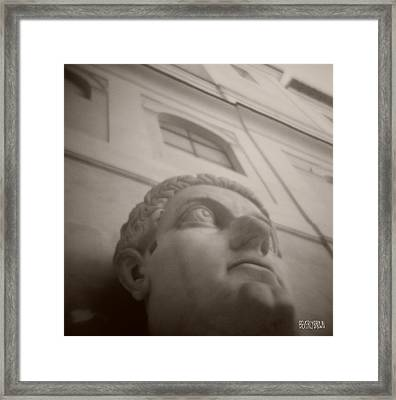 Emperor Constantine Statue Framed Print by Beverly Brown