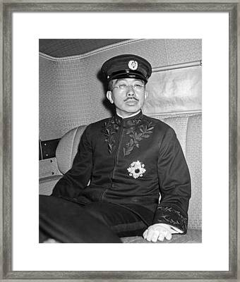 Emperor Hirohito In Limo Framed Print