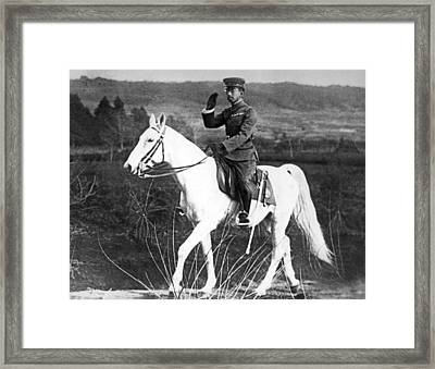Emperor Hirohito Of Japan Framed Print by Underwood Archives