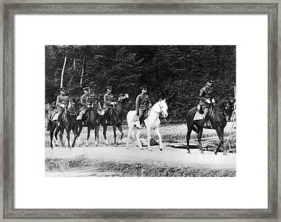 Emperor Hirohito On Snow Drift Framed Print by Underwood Archives