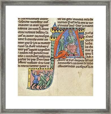 Emperor John Enthroned Framed Print