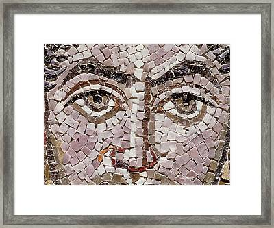 Emperor Justinian I 483-565 C.547 Ad Mosaic Detail Of 140283 Framed Print by Byzantine School