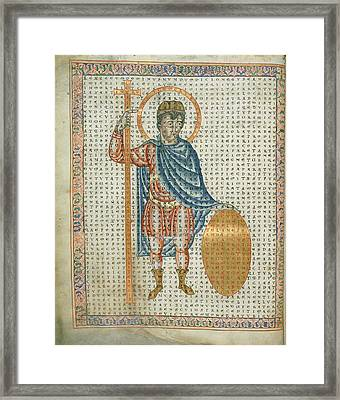 Emperor Louis The Pious Framed Print by British Library
