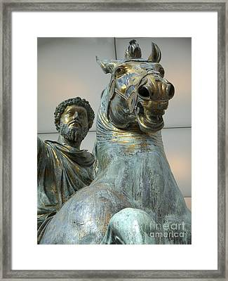 Emperor Marcus Aurelius Framed Print