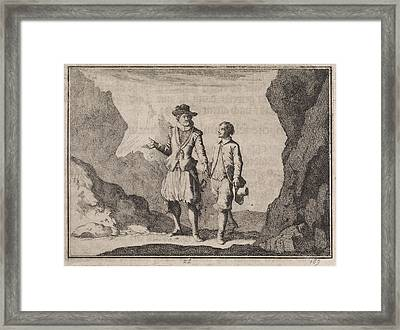 Emperor Maximilian And His Guardian Angel In A Rocky Framed Print