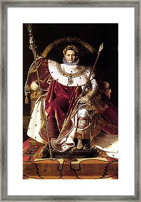 Emperor Napoleon I On His Imperial Throne Framed Print by War Is Hell Store