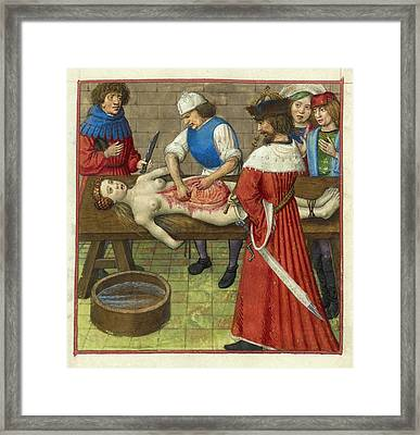 Emperor Nero At His Mother's Dissection Framed Print by British Library