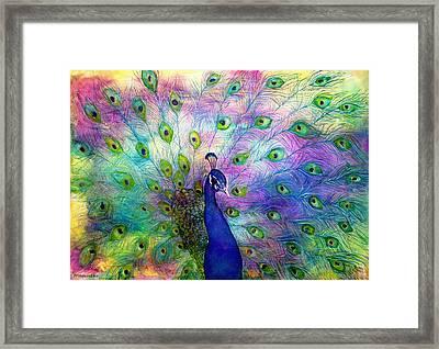 Emperor Peacock Framed Print