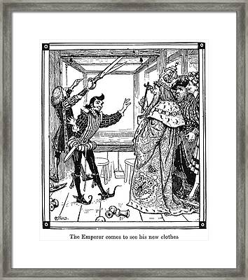 Emperor's New Clothes Framed Print by Granger