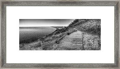 Empire Bluff In Black And White Framed Print by Twenty Two North Photography
