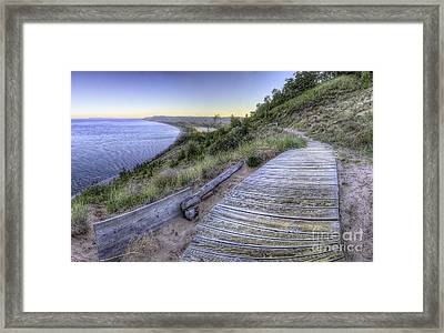 Empire Bluff In Sleeping Bear Dunes Framed Print by Twenty Two North Photography