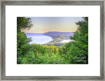 Empire Bluff Trail Overlook Framed Print