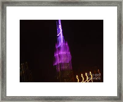 Empire Light Blur Framed Print