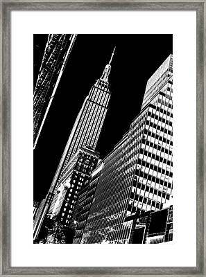 Empire Perspective Framed Print by Az Jackson