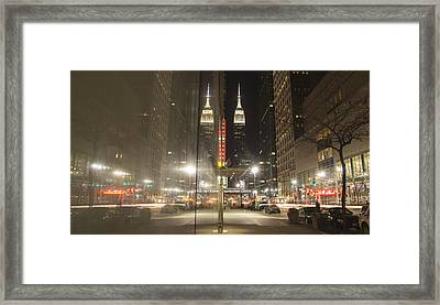 Empire Reflections Framed Print