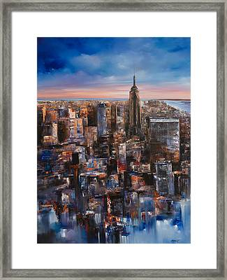 Empire Rising Tall Framed Print by Manit