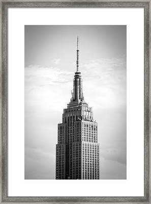 Empire State Framed Print by Alexander Mendoza