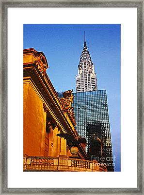 Empire State Framed Print by Alison Tomich