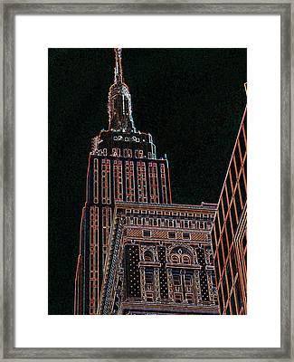 Empire State Framed Print by Barbara McDevitt