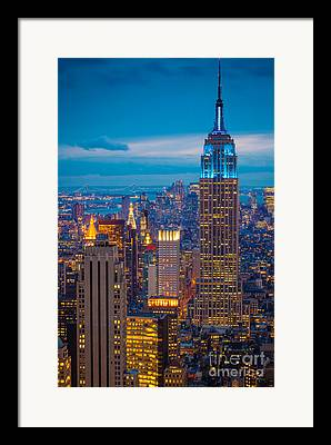 Blue Framed Prints