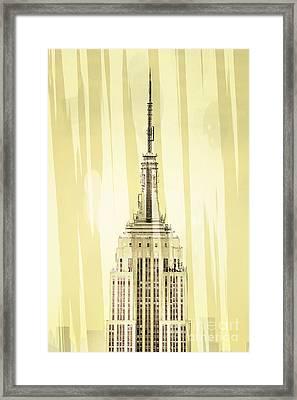 Empire State Building 2 Framed Print by Az Jackson