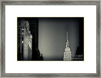 Empire State Building 2 New York City Framed Print by Sabine Jacobs