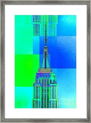 Empire State Building 5 Framed Print by Az Jackson