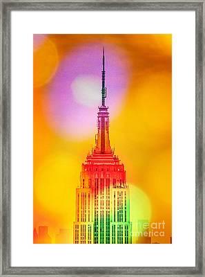 Empire State Building 6 Framed Print by Az Jackson