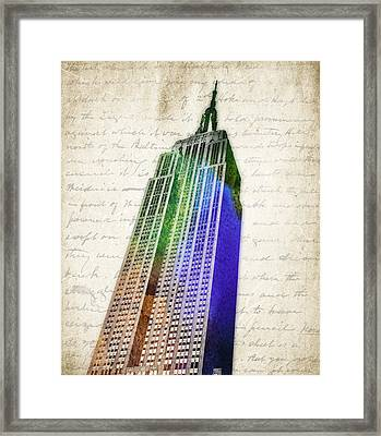 Empire State Building Framed Print by Aged Pixel