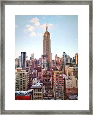 Empire State Building Amidst Modern Framed Print by Matteo De Santis / Eyeem